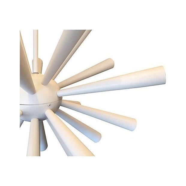 Image of Large Metal Trumpet Sputnik Chandelier