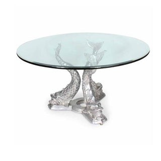 Dolphin Dining Table in Aluminum