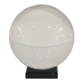 Crystal Sphere on Black Acrylic Stand