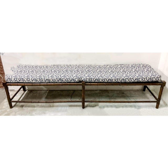 Extra Long Faux Bamboo Bench - Image 5 of 6