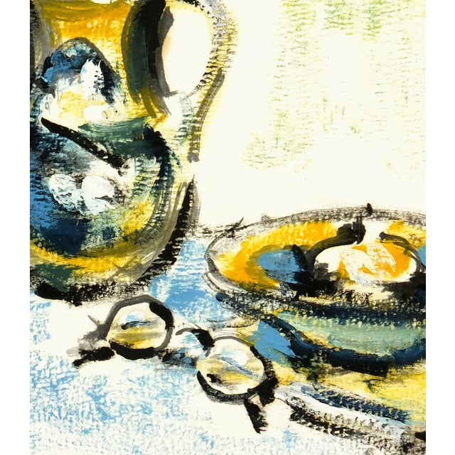 1960 Vintage French Still Life Study Painting - Image 2 of 3