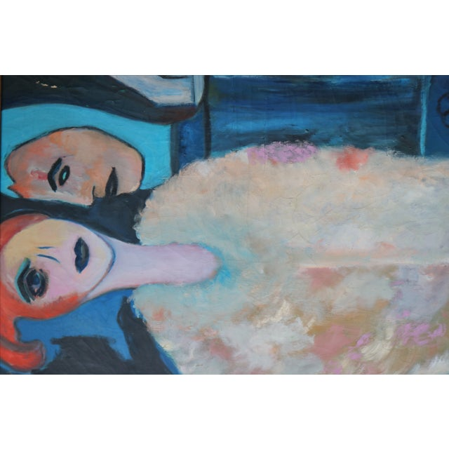 1960's Oil on Canvas Portrait Painting by Eb Rosen - Image 3 of 8