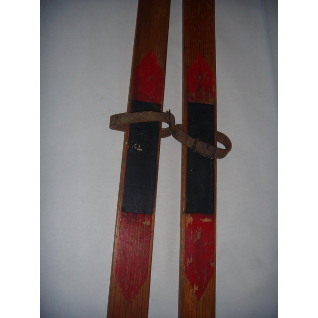 Image of Vintage Wood Child's Skis - A Pair