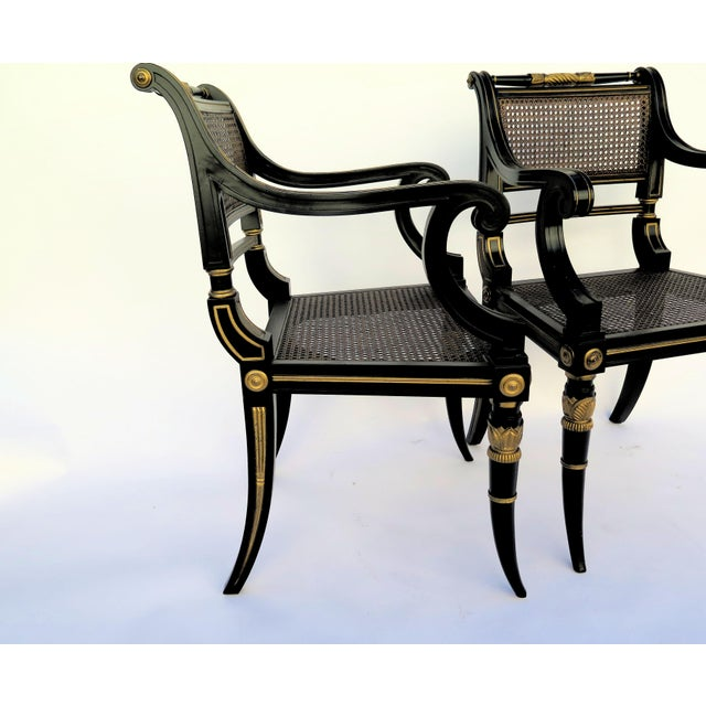 Baker Mahogany Caned Chairs - a Pair - Image 6 of 7