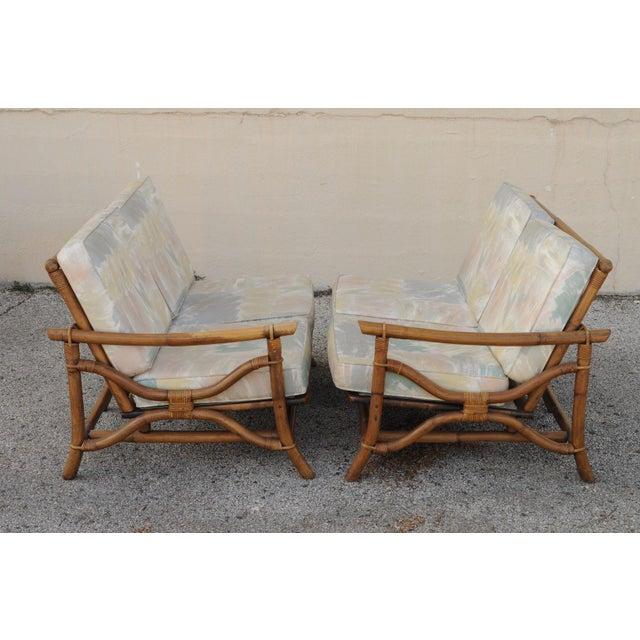 Mid Century Ficks Reed Rattan Tiki Sofa Set - Set of 5 - Image 7 of 11