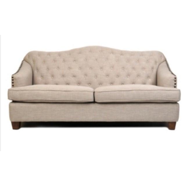 French Style Tufted Bardot Sofa Chairish