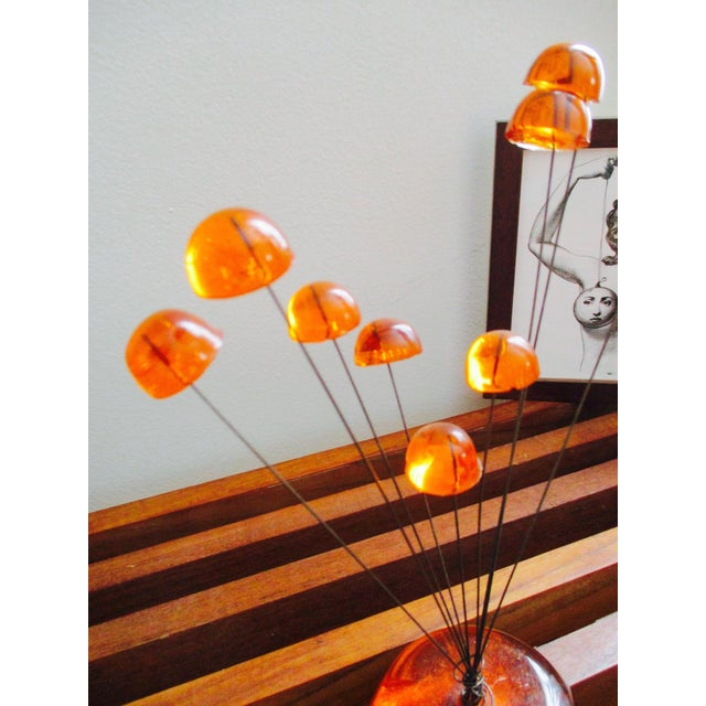Image of Orange Lucite Abstract Sculptural Kinetic Sculpture