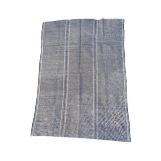 Black & Natural Homespun Plaid Tribal Throw