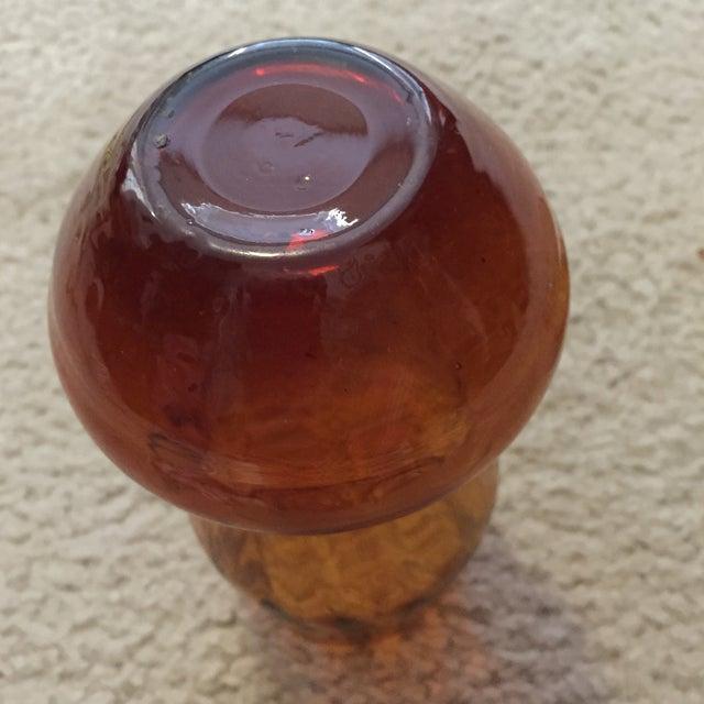 Image of Amber Vase & Candy Dish