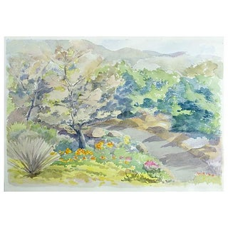 Betty Levasheff Floral Mountain Path Watercolor Painting