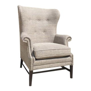 Bernhardt Grey & White Upholstered Tivoli Chair