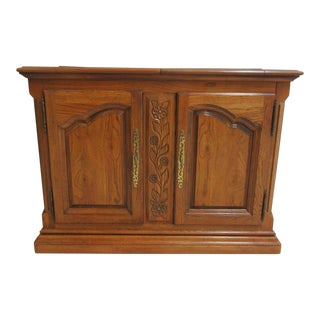 Hickory Co. Country French Oak Flip Top Server