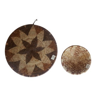 Botswanan Hand Made Woven Baskets- Set of 2
