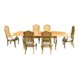 Vintage Drop-Leaf Table & 6 Chairs