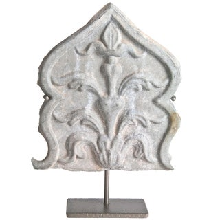 Vintage French Zinc Architectural Fragment On Stand