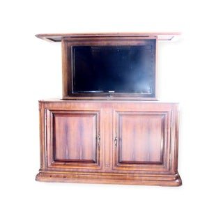 Ebanista Custom White Cedar Remote Tv Unit Buffet