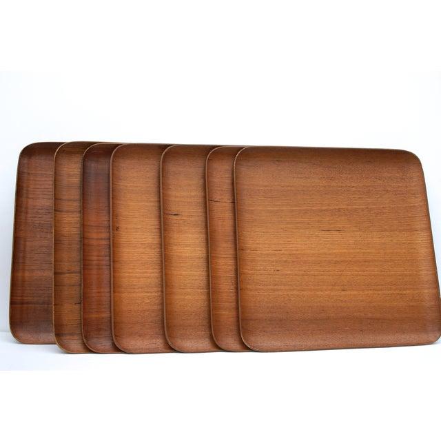 Image of Mid-Century Teak Trays - Set of 7