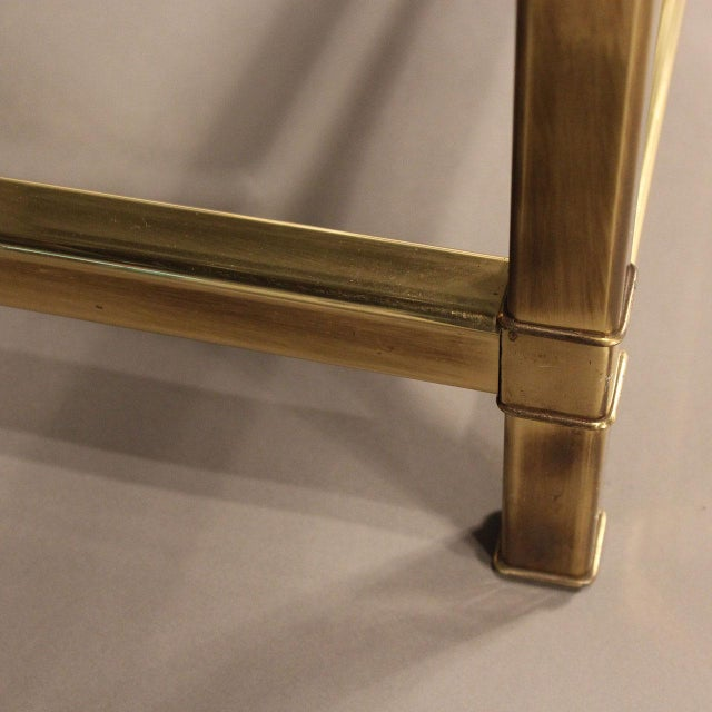 Mastercraft Brass and Glass Coffee Table - Image 3 of 10