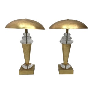 Mid-Century Signed Van Teal Lamps - A Pair