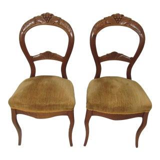 Victorian Balloon Back Chairs - A Pair