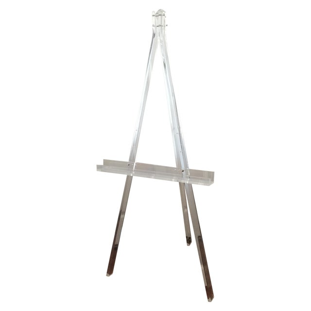 1970's Mid Century Modern Tall Lucite Art Easel - Image 1 of 7