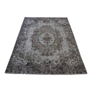 "Gray Colour Turkish Overdid Rug - 5'11"" X 8'7"""