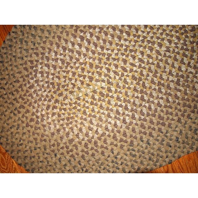 Handmade Antique American Braided Rug - 2′2″ × 3′6″