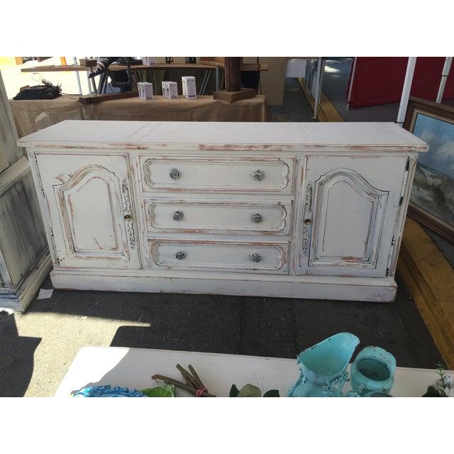 White Shabby Chic Rosette Dresser - Image 2 of 3