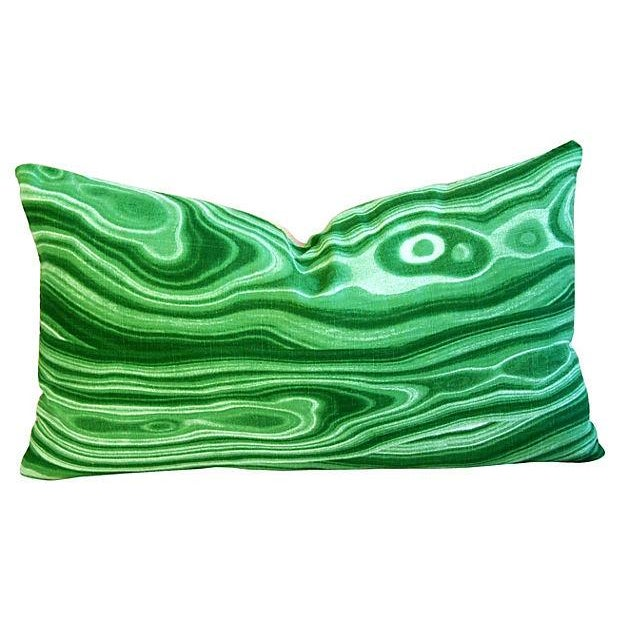 Custom Designer Emerald Malachite Pillows - Set 3 - Image 2 of 6