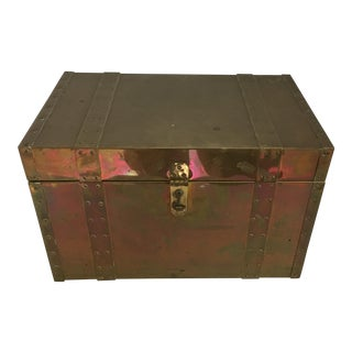 Brass & Wood Treasure Box