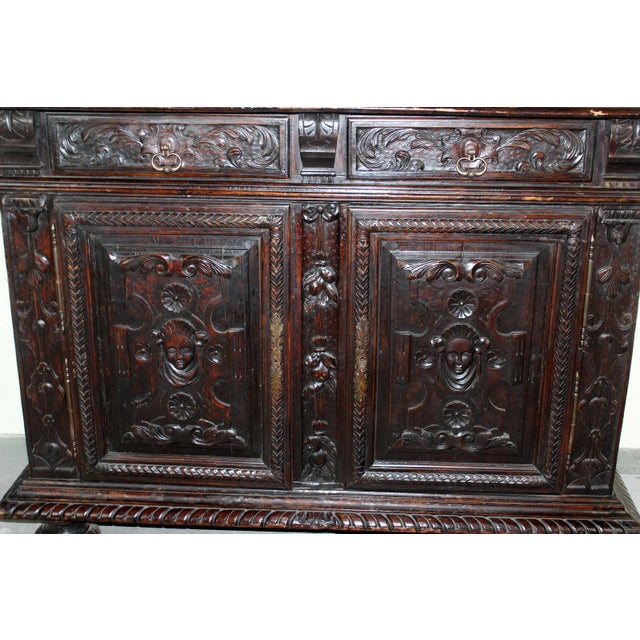 Antique 19th C. French Walnut Buffet - Image 3 of 5