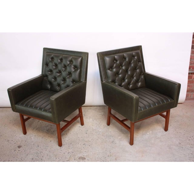 Pair of Milo Baughman for Thayer Coggin Walnut Armchairs - Image 2 of 9
