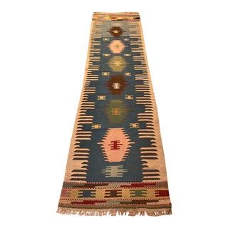 Vintage Turkish Kilim Runner - 3' X 10'