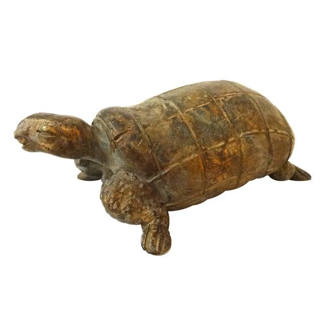 Bronze African Ashanti Akan Sculpture - Turtle - Image 1 of 8