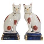 Image of Staffordshire Style Cats - Pair