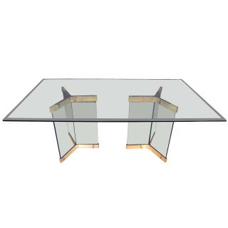 Leon Rosen Pace Collection Brass Dining Table