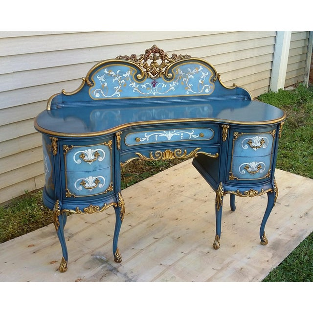 Hand-Painted French Desk - Image 3 of 10