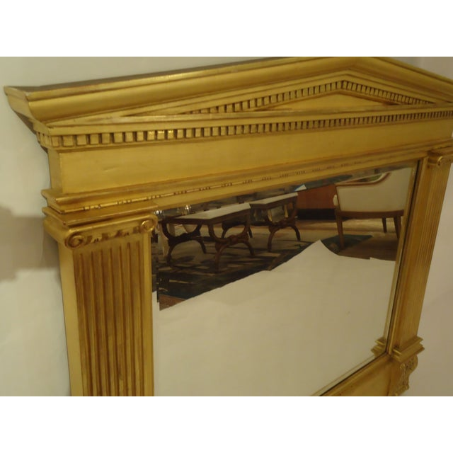 Image of Gilded Neoclassical Wooden Mirror