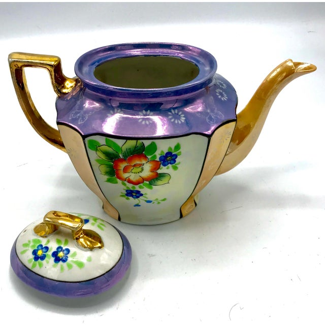 Antique Japanese Lustreware Teapot - Image 4 of 7