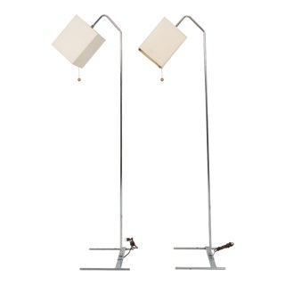 George Nelson Mid Century Kite Floor Lamps - Pair