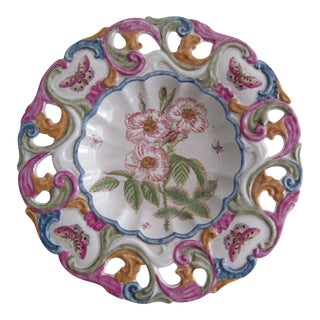 Decorative Flower and Butterfly Hanging Plate