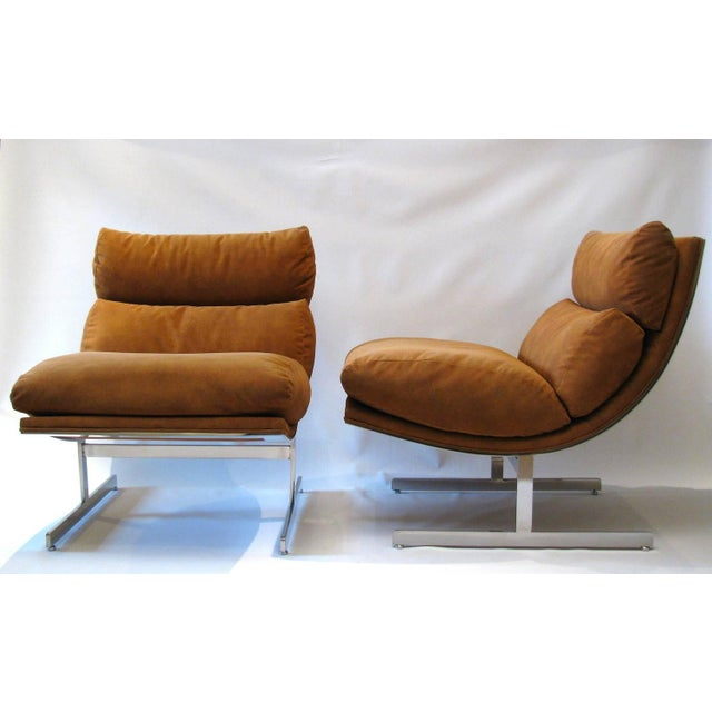 Kipp Stewart for Directional Lounge Chairs - Pair - Image 3 of 7