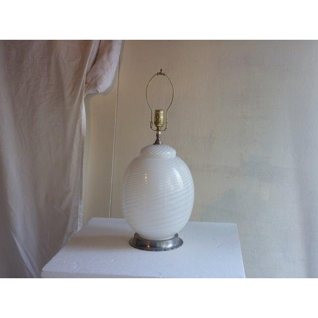 White Murano Table Lamp - Image 2 of 4