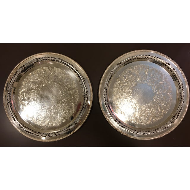 W.M. Rogers Silverplate Trays #162 & 4272p - Pair - Image 2 of 10