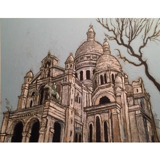 Sacre Coeur Watercolor and Acrylic Painting