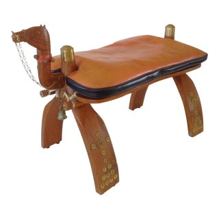 Moroccan Camel Saddle Stool