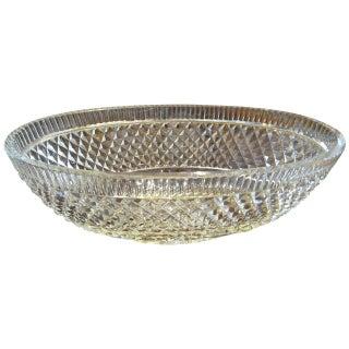 Georgian Style Crystal Centre Bowl
