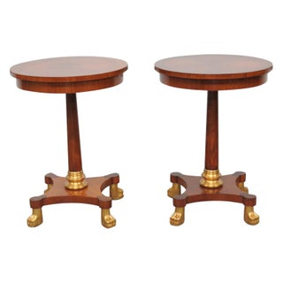 Italian Clawfeet Side Tables - A Pair