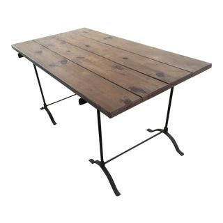 Pottery Barn Iron Trestle Table