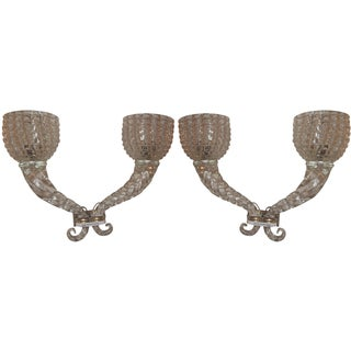 Murano Glass Seguso Sconces - A Pair